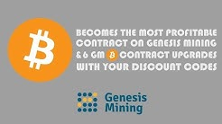 BITCOIN BECOMES THE MOST PROFITABLE CONTRACT ON GENESIS MINING & 6 GM CONTRACT UPGRADES