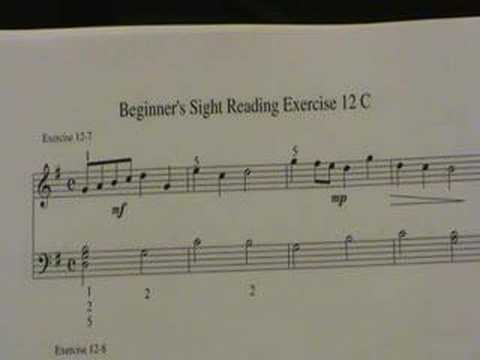 Piano Sight Reading Exercises for Beginners