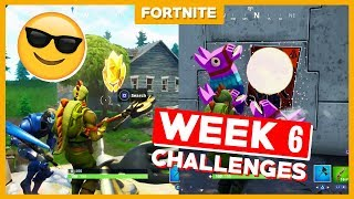 ALLE WEEK 6 CHALLENGES + GRATIS TIER! - Fortnite