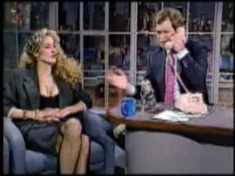 Jerry Hall on Letterman