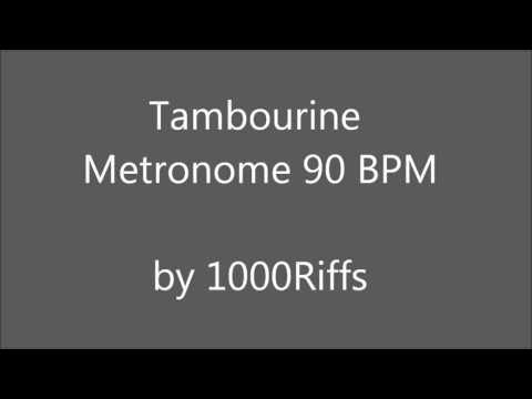 Tambourine Metronome 90 BPM - Beats Per Minute