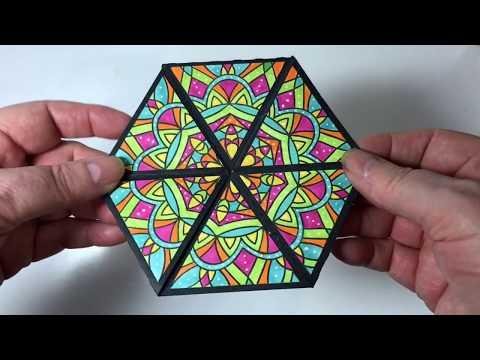 Kaleidoscope Hexagon Never Ending Card