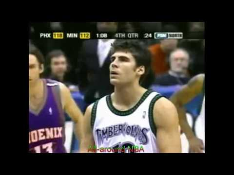 Wally Szczerbiak 20 Points 6 Ast Vs. Phoenix Suns, 2004-05.