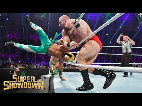 Lars Sullivan unleashes his fury on Lucha House Party: WWE Super ShowDown 2019