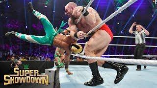 Lars Sullivan unleashes his fury on Lucha House Party: WWE Super ShowDown 2019