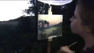 Twilight on a Summer Solstice Plein Air Painting