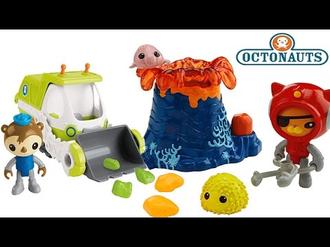 OCTONAUTS TOYS EXPLODING VOLCANO! KWAZII AND THE VOLCANO RESCUE YETI CRAB, SEA URCHIN, UNDERWATER