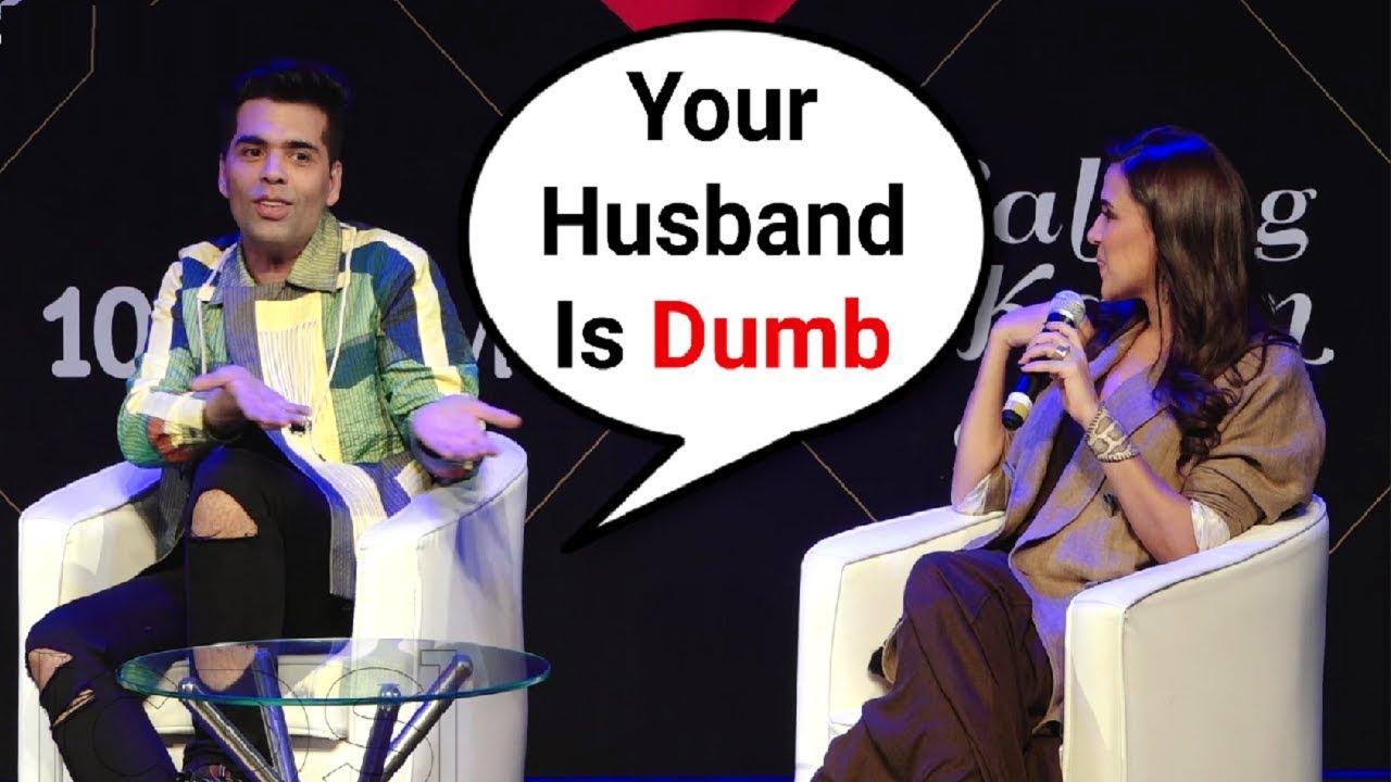 Karan Johar Calls Neha Dhupia Husband Angad Bedi Dumb