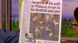 Prince William - football and pint down the pub (UK) - BBC News - 12th October 2019