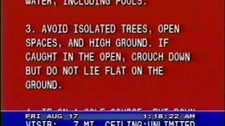 Lightning Safety Tips Red Scroll - 08/17/90