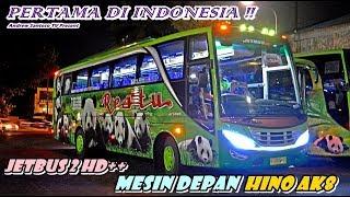 PERTAMA DI INDONESIA !!! JETBUS 2 HD++ MESIN DEPAN HINO AK8   TEROBOSAN KAROSERI ADI PUTRO MALANG