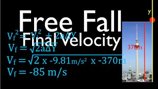 Physics, Kinematics, Free Fąll (3 of 12) Solving for Final Velocity, No. 2