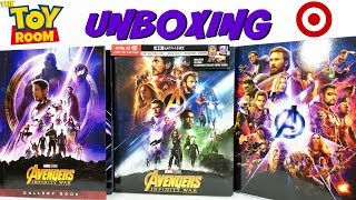 Avengers Infinity War Target Exclusive 4K Blu Ray With Gallery Book Unboxing & Digital HD Giveaway