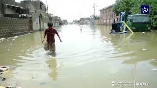 فيضانات في كراتشي جراء الأمطار الغزيرة (1/8/2019)