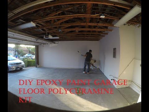 DIY Epoxy paint garage floor Polycuramine Kit - Maulik