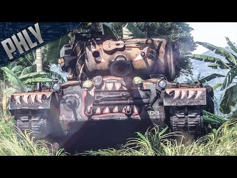 M46 TIGER & P-47M ARTIST COMBO (War Thunder Tanks Gameplay)