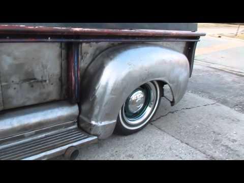 1953 gmc rat rod bare metal truck
