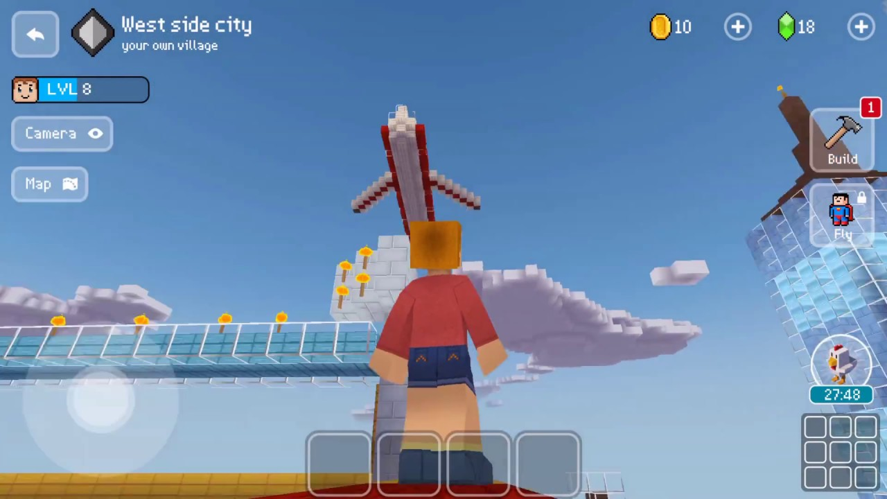 Block craft 3d mobile gameplay west side city youtube for Block craft 3d games