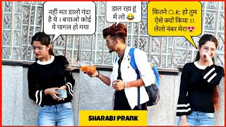 Sharabi Prank On Delhi Girls || Drunk Man Prank || Prank Gone HILARIOUS || SAHIL KHAN Production