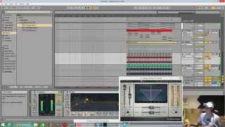Ablton Live 9 . starting a liquid drum and bass track