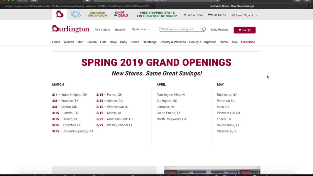 a6a6bbccb Burlington Store at The Outlets at Bergen Towne Expcted to Open up in Early  Mid May 2019