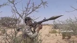 Yemeni forces' military attack at Saudi mercenaries' bases in Aslan area of Yemen's A