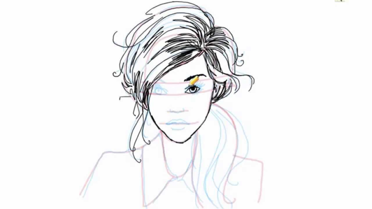 How to draw a female face how to draw a female face front side view female face youtube