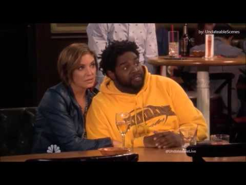Undateable 3x01 Justin and Candace kiss.