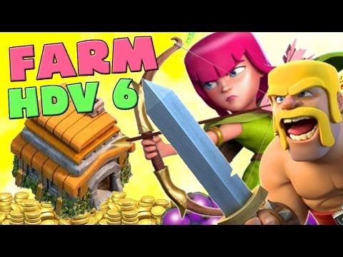 [Clash of Clans] Bon vieux Farming petit compte HDV 6 en Barch !