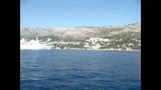 Хорватия, катер Дубровник-Локрум(Катер регулярно ходит и доставляет народ из Дубровника в Локрум и обратно. Сентябрь 2009 года. http://www.youtube.com/watch..., 2012-06-28T19:47:39.000Z)