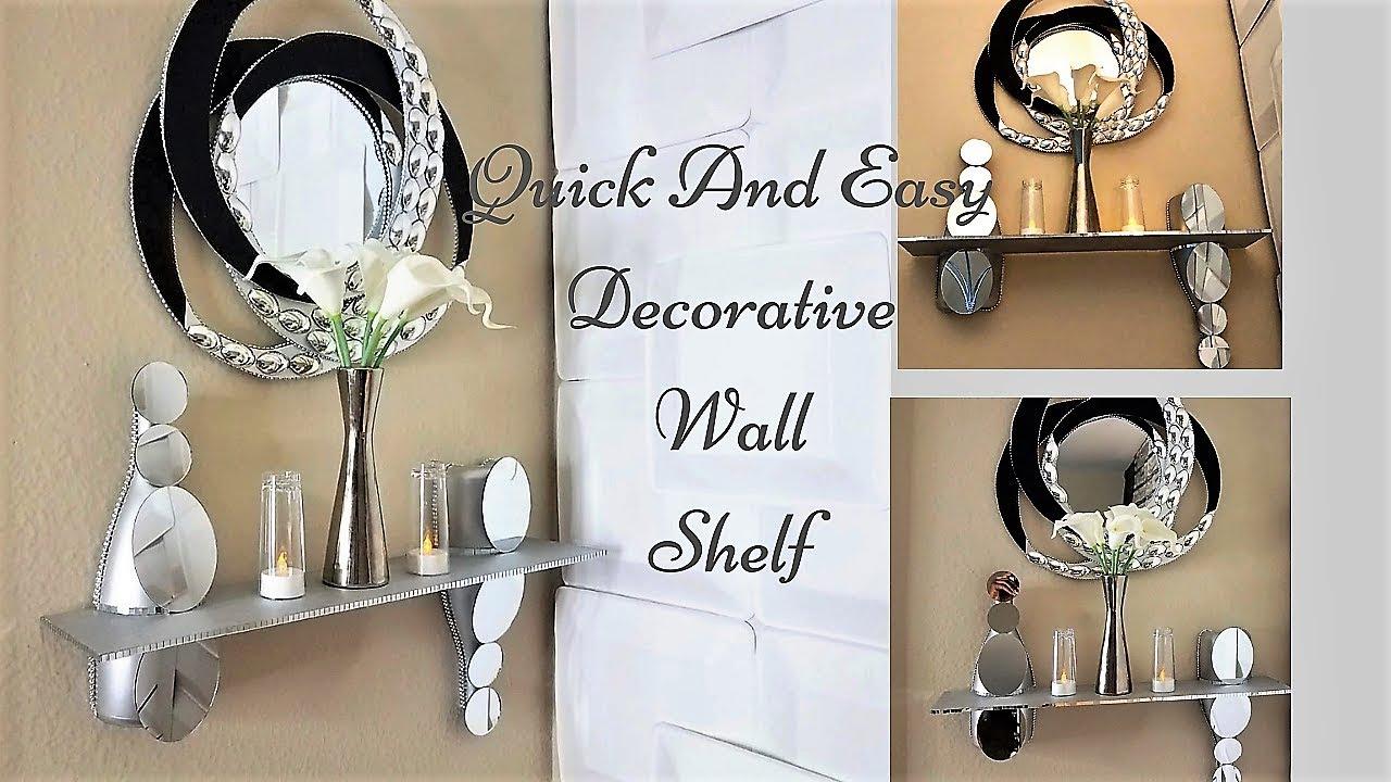 Diy 5 Minutes Wall Shelf Quick And Easy Mirror Shelf Idea Youtube