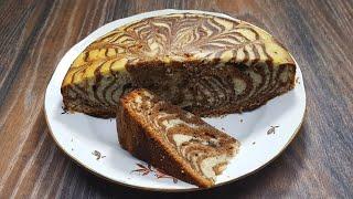 Пирог Зебра   лучший пирог к чаю Zebra cake