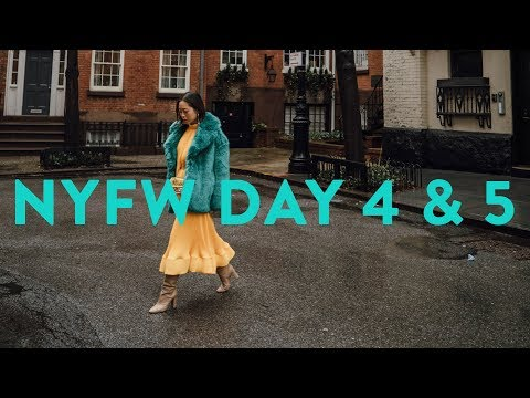 Busiest day of NYFW  NYFW Vlog Day 4 & 5  Aimee Song