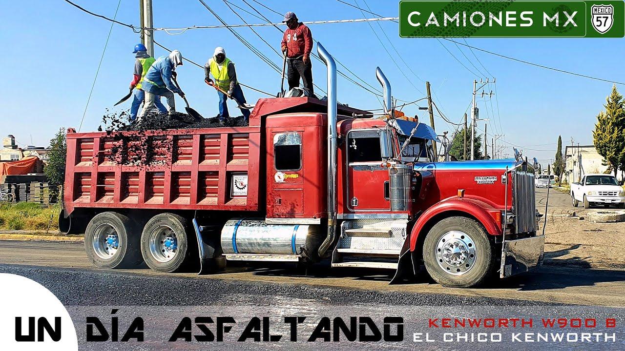 ¡Un día Asfaltando en un KENWORTH W900 B (El chico Kenworth) en Camiones Mx!