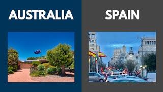 Australia and  Spain: A comparison
