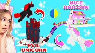 EVIL And NICE Unicorn Floating Castle In Adopt Me! (Roblox)