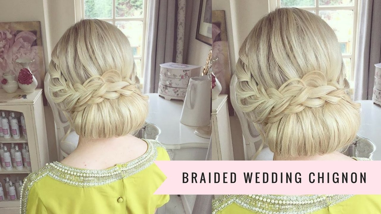 braided wedding chignon by sweethearts hair