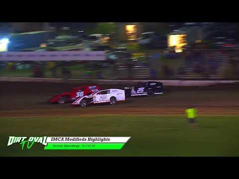 4-13-18 Ocean Speedway IMCA Modifieds Highlights