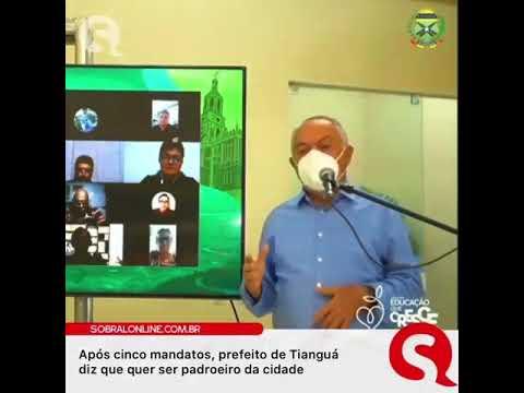 """O prefeito """"São Luiz Menezes"""" quer disputar com  a vó de Jesus Cristo,  Sant' Ana, o título de padroeiro de Tianguá"""