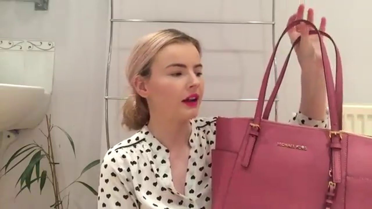 What s In My Bag    Michael Kors Jet Set Tote   Katie B - YouTube 966f83883a