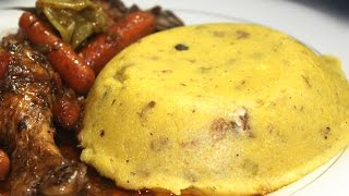 HOW TO COOK REAL JAMAICAN TURNED CORNMEAL WITH GUNGUH GREEN PIGEON PEAS RECIPE