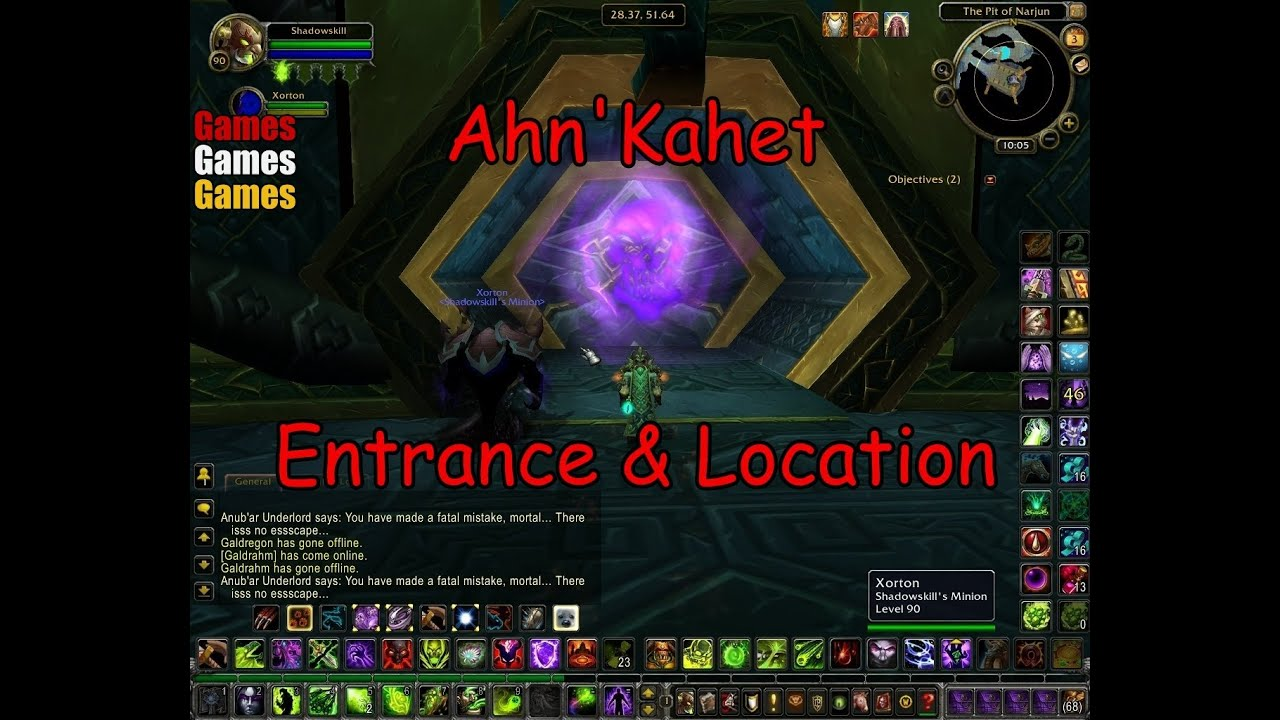 Ahnkahet Entrance Location World Of Warcraft Wrath Of The Lich