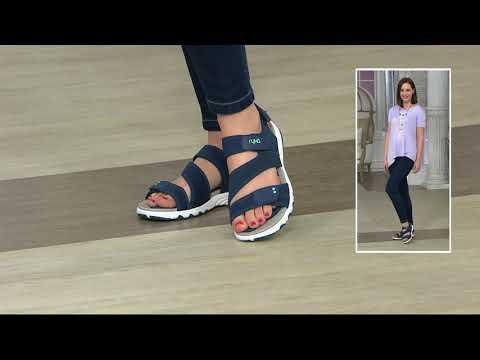 Ryka Neoprene Adjustable Sport Sandals - Dominica on QVC