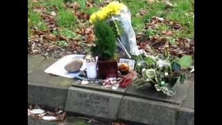 Memorial stone from Ian Curtis Cemetery Macclesfield - JOY DIVISION