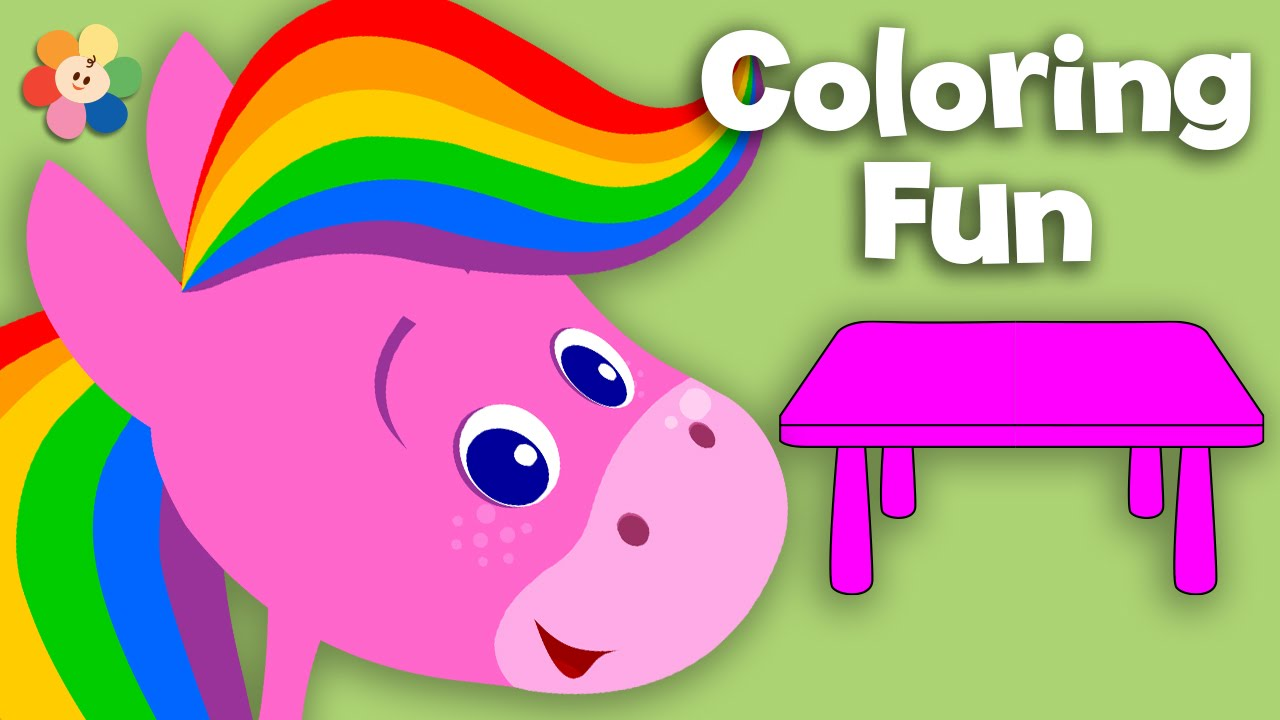 Furniture | Coloring And Music | Rainbow Horse | BabyFirst TV   YouTube