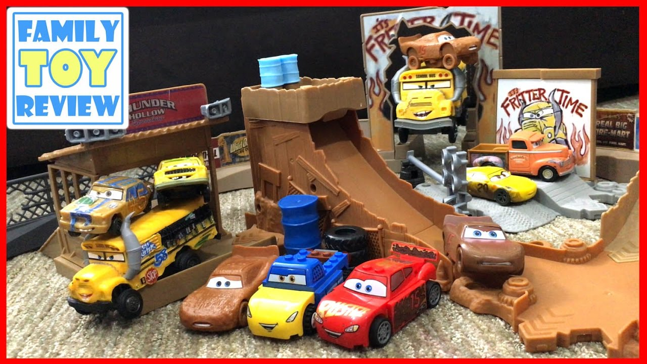 Disney cars 3 toys thunder hollow challenge playset with miss fritter lightning mcqueen - Coloriage cars 3 thunder hollow ...
