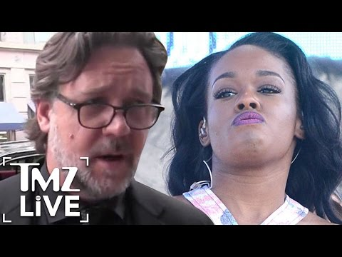 RUSSELL CROWE Gets Physical with AZEALIA BANKS  TMZ Live  TMZ Live