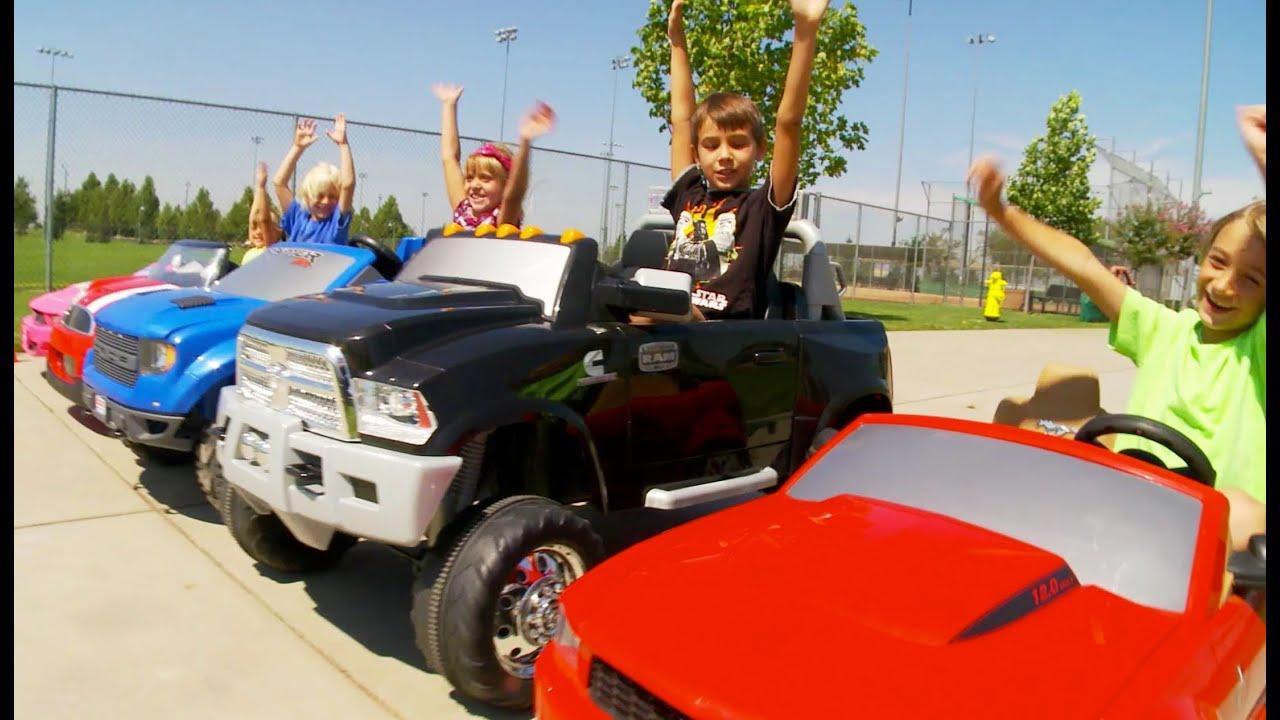 power wheels race 5 racing cars youtube