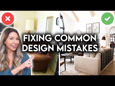COMMON INTERIOR DESIGN MISTAKES + HOW TO FIX THEM
