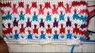 Easy Multicolor Knitting Pattern No.2| Hindi